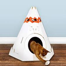 Cardboard House For Cats Cardboard Teepee Cat Playhouse By Thelittleboysroom