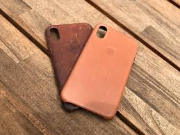 apple iphone x saddle brown leather case before and after photo by ter bohn the verge