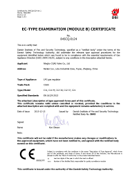 Appliance Gas Regulator Ce Certificate For C11c21 And C12 Gas Regulator Ningbo Cgas