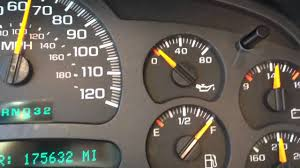03 Chevy Silverado Oil Pressure Gauge Fluctuating - YouTube