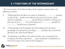 Intermediary Contract For International Trade - Contract Template And…