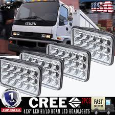 isuzu npr headlight 4x led upgrade headlights sealed beam h4651 h4652 h4 for gmc chevy w4500 w5500 fits