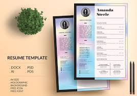 40 Eye Catching CV Templates For MS Word Free To Download Classy Resume Background