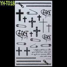 скрепки крест молнии окрашенные боди арт наклейки татуировки браслет