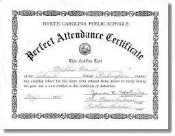 15 Certificate For Perfect Attendance Us31 Kokomo