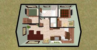 New Galleryn Style Two Bedroom House Plans With Cabin Cottage - Interior designing of bedroom 2