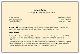 Example Of Job Objectives On A Resume Examples Of Resumes