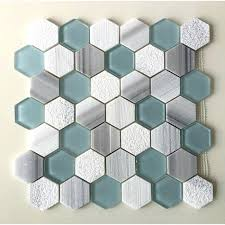 glass hexagon tile backsplash 2 equator marble