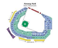 Fenway Park Boston Ma Landrys Tickets Seating Chart