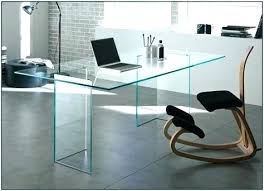 compact clear glass computer desk table with shelves modern best office home furniture mo