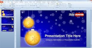 Blue And Gold Powerpoint Template Widescreen Golden Balls Powerpoint Template Which Is A Free