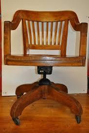 vintage swivel oak desk chair teachers chair antique swivel office chair