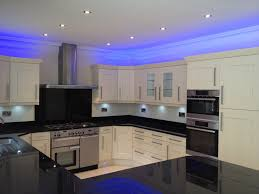 Kitchen:Modern Kitchen With Led Lighting Fixtures Modern Kitchen Led  Lighting With Nice Blue Lights