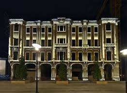 building facade lighting. Building Facade Lighting. Lighting Beirut Architecture )