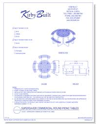 cad drawings kirbybuilt vil5000 supersaver commercial round picnic table