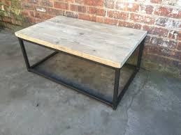 industrial reclaimed furniture. Box Frame Coffee Table - Industrial Reclaimed Style Furniture L