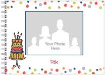 photo book birthday party from vistaprint