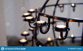 Aziano Lighting Candles In The Church Stock Image Image Of Holiday 136397627