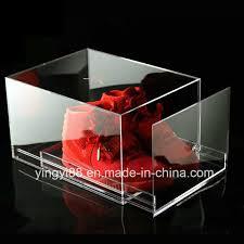 china clear luxury acrylic sneaker shoe box china shoe box acrylic shoe box