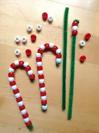 Christmas Decorations With Candy Canes Pipe Cleaner Candy Cane Ornaments DIY 73