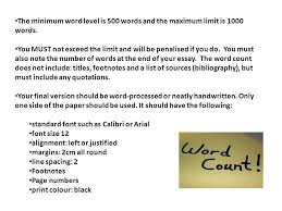 the minimum word level is words and the maximum limit is  the minimum word level is 500 words and the maximum limit is 1000 words
