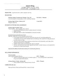 Resume Templates College Student Adorable Basic Resume Examples For Students High School Student Resume Sample