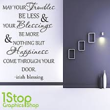 image is loading irish blessing wall sticker quote bedroom lounge wall  on irish blessing wall art with irish blessing wall sticker quote bedroom lounge wall art decal