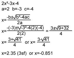 solve quadratics using the quadratic