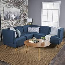 Most comfortable sectional sofa Intended Milltown 5pc Midcentury Tufted Modular Sectional Sofa With Birch Wood Legs Comfortable Amazoncom Most Comfortable Sectional Sofas Amazoncom