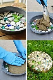 easy diy garden stones project stepping stones