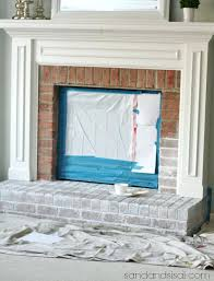 painting mantel mantle brick fireplace wall color painted surround ideas gray