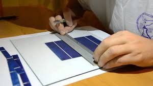 how to cut solar cells