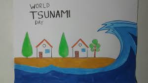The first thing we need to do is sketch out the foamy part of the tsunami's wave. World Tsunami Day Poster Drawing On Tsunami Day How To Draw Tsunami Youtube