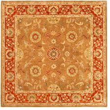 heritage rug beigerust 639 x 639 square traditional rugs square area rugs 6x6