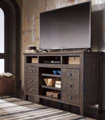 dark brown tv stand. Unique Dark Trudell TV Stand  Dark Brown Finish Side Angle For Front And Tv N