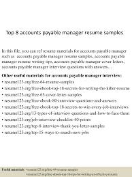 Accounts Payable Resume Samples Top224accountspayablemanagerresumesamples224conversiongate224thumbnail24jpgcb=124292245922490 24