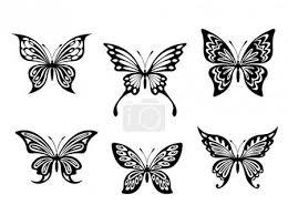Vektor černý Motýl Tetování A Siluety 12710319 Fotobanka Fotkyfoto