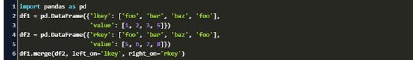 pandas merge on multiple columns code