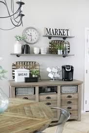 Image Farmhouse Style Modern Farmhouse Kitchen Decor The Crafted Sparrow Modern Farmhouse Inspired Coffee Bar Station The Crafted Sparrow