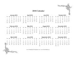 one page calender printable 2018 one page calendar with flowers