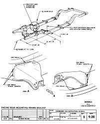 Engine rear mounting frame bracket sheet 9 00