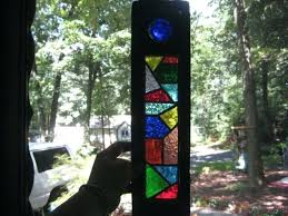 window hanging stained glass art in old ebony s