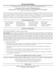 Cover Letter Payroll Resume Sample Payroll Officer Resume Sample