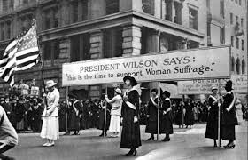 herstory the women behind the th amendment com women suffragists for the right to vote during the presidency of woodrow wilson