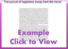 Essay on the pursuit of happiness
