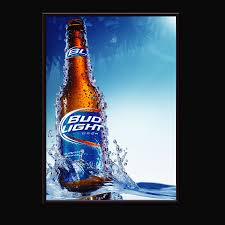 Bud Light Glass Light Up Electroluminescent Light Up Animated Poster El Advertising Poster Buy El Electroluminescent Light Up Animated Poster El Advertising Poster Product