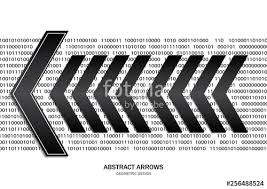 Creative Geometric Black Arrows Abstract White Background Numeric