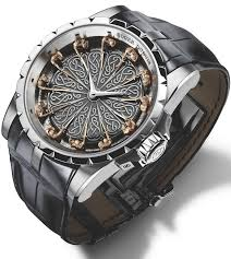 roger dubuis has a well elished retion for springing surprises in many guises and its contemporary take on the legend of the round table is no