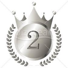 王冠銀メダルのイラスト素材テンプレートのダウンロードは書式の王様