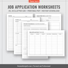 Planner Printables For Students 2019 Job Application Worksheets Letter Size A4 Filofax A5 Planner 2019 Best Planner Planner Inserts Printable Planner Planner Pages Instant